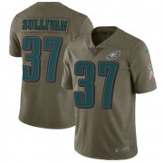 Wholesale Cheap Nike Eagles #37 Tre Sullivan Olive Men's Stitched NFL Limited 2017 Salute To Service Jersey