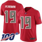 Wholesale Cheap Nike Buccaneers #19 Breshad Perriman Red Men's Stitched NFL Limited Rush 100th Season Jersey