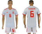 Wholesale Cheap Spain #6 A.Iniesta Away Soccer Country Jersey