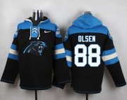 Wholesale Cheap Nike Panthers #88 Greg Olsen Black Player Pullover NFL Hoodie