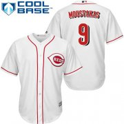Wholesale Cheap Reds #9 Mike Moustakas White New Cool Base Stitched MLB Jersey