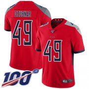 Wholesale Cheap Nike Titans #49 Nick Dzubnar Red Men's Stitched NFL Limited Inverted Legend 100th Season Jersey