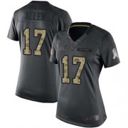 Wholesale Cheap Nike Bills #17 Josh Allen Black Women's Stitched NFL Limited 2016 Salute to Service Jersey