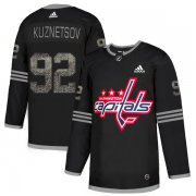 Wholesale Cheap Adidas Capitals #92 Evgeny Kuznetsov Black Authentic Classic Stitched NHL Jersey
