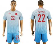 Wholesale Cheap Turkey #22 Oztekin Away Soccer Country Jersey