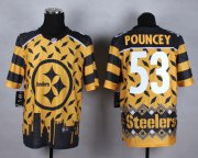 Wholesale Cheap Nike Steelers #53 Maurkice Pouncey Gold Men's Stitched NFL Elite Noble Fashion Jersey