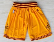 Wholesale Cheap Cleveland Cavaliers Yellow Short
