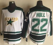 Wholesale Cheap Stars #22 Brett Hull White CCM Throwback Stitched NHL Jersey