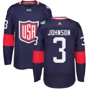 Wholesale Cheap Team USA #3 Jack Johnson Navy Blue 2016 World Cup Stitched Youth NHL Jersey