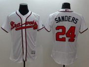 Wholesale Cheap Braves #24 Deion Sanders White Flexbase Authentic Collection Stitched MLB Jersey