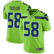 Wholesale Cheap Nike Seahawks #58 Darrell Taylor Green Men's Stitched NFL Limited Rush Jersey