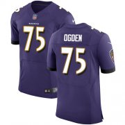 Wholesale Cheap Nike Ravens #75 Jonathan Ogden Purple Team Color Men's Stitched NFL Vapor Untouchable Elite Jersey