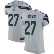 Wholesale Cheap Nike Seahawks #27 Mike Davis Grey Alternate Men's Stitched NFL Vapor Untouchable Elite Jersey