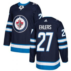 Wholesale Cheap Adidas Jets #27 Nikolaj Ehlers Navy Blue Home Authentic Stitched Youth NHL Jersey