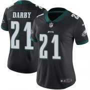 Wholesale Cheap Nike Eagles #21 Ronald Darby Black Alternate Women's Stitched NFL Vapor Untouchable Limited Jersey