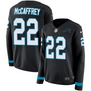 Wholesale Cheap Nike Panthers #22 Christian McCaffrey Black Team Color Women's Stitched NFL Limited Therma Long Sleeve Jersey