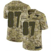 Wholesale Cheap Nike Patriots #87 Rob Gronkowski Camo Men's Stitched NFL Limited 2018 Salute To Service Jersey