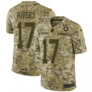 Wholesale Cheap Nike Colts #17 Philip Rivers Camo Youth Stitched NFL Limited 2018 Salute To Service Jersey
