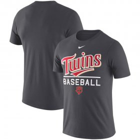 Wholesale Cheap Minnesota Twins Nike Wordmark Practice Performance T-Shirt Anthracite