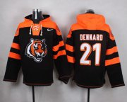 Wholesale Cheap Nike Bengals #21 Darqueze Dennard Black Player Pullover NFL Hoodie