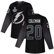 Cheap Adidas Lightning #20 Blake Coleman Black Alternate Authentic 2020 Stanley Cup Champions Stitched NHL Jersey