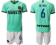 Wholesale Cheap Inter Milan #6 De Vrij Away Soccer Club Jersey