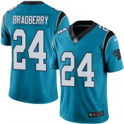 Wholesale Cheap Nike Panthers #24 James Bradberry Blue Men's Stitched NFL Limited Rush Jersey