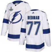 Cheap Adidas Lightning #77 Victor Hedman White Road Authentic Youth 2020 Stanley Cup Champions Stitched NHL Jersey