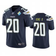 Wholesale Cheap Los Angeles Chargers #20 Desmond King Navy 60th Anniversary Vapor Limited NFL Jersey