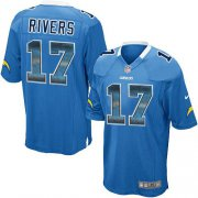 Wholesale Cheap Nike Chargers #17 Philip Rivers Electric Blue Alternate Men's Stitched NFL Limited Strobe Jersey