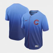 Wholesale Cheap Nike Cubs Blank Royal Fade Authentic Stitched MLB Jersey