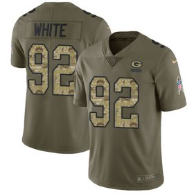 Wholesale Cheap Nike Packers #92 Reggie White Olive/Camo Youth Stitched NFL Limited 2017 Salute to Service Jersey