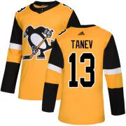 Wholesale Cheap Adidas Penguins #13 Brandon Tanev Gold Alternate Authentic Stitched NHL Jersey