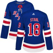 Wholesale Cheap Adidas Rangers #18 Marc Staal Royal Blue Home Authentic Women's Stitched NHL Jersey