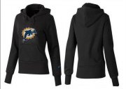 Wholesale Cheap Women's Miami Dolphins Logo Pullover Hoodie Black