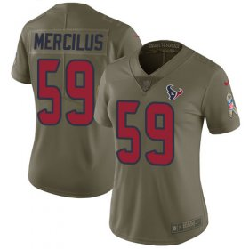 Wholesale Cheap Nike Texans #59 Whitney Mercilus Olive Women\'s Stitched NFL Limited 2017 Salute to Service Jersey