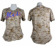 Wholesale Cheap Mets Blank Camo Women's Fashion Stitched MLB Jersey