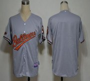 Wholesale Cheap Orioles Blank Grey Cool Base Stitched MLB Jersey