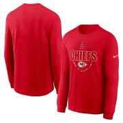 Wholesale Cheap Kansas City Chiefs Nike Icon Legend Performance Long Sleeve T-Shirt Red