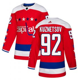 Wholesale Cheap Adidas Capitals #92 Evgeny Kuznetsov Red Alternate Authentic Stitched Youth NHL Jersey