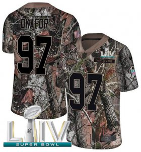 Wholesale Cheap Nike Chiefs #97 Alex Okafor Camo Super Bowl LIV 2020 Men\'s Stitched NFL Limited Rush Realtree Jersey