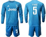 Wholesale Cheap Juventus #5 Pjanic Third Long Sleeves Soccer Club Jersey
