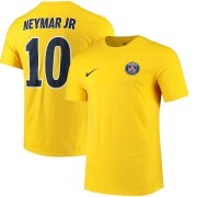 Wholesale Cheap Paris Saint-Germain #10 Neymar Santos Nike Name & Number Away T-Shirt Yellow