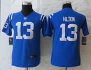 Wholesale Cheap Nike Colts #13 T.Y. Hilton Royal Blue Team Color Youth Stitched NFL Elite Jersey