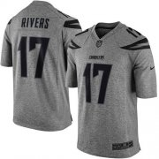 Wholesale Cheap Nike Chargers #17 Philip Rivers Gray Men's Stitched NFL Limited Gridiron Gray Jersey