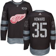 Wholesale Cheap Adidas Red Wings #35 Jimmy Howard Black 1917-2017 100th Anniversary Stitched NHL Jersey
