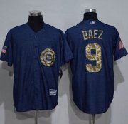 Wholesale Cheap Cubs #9 Javier Baez Denim Blue Salute to Service Stitched MLB Jersey