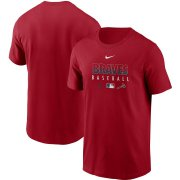 Wholesale Cheap Men's Atlanta Braves Nike Red Authentic Collection Team Performance T-Shirt