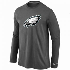 Wholesale Cheap Nike Philadelphia Eagles Logo Long Sleeve T-Shirt Dark Grey