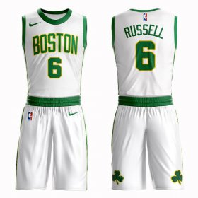 Wholesale Cheap Boston Celtics #6 Bill Russell White Nike NBA Men\'s City Authentic Edition Suit Jersey